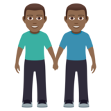 Men Holding Hands: Medium-Dark Skin Tone on JoyPixels 5.0