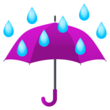 Umbrella with Rain Drops on JoyPixels 5.0