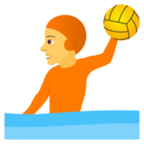 Person Playing Water Polo on JoyPixels 5.0