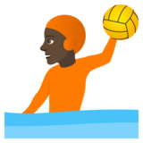 Person Playing Water Polo: Dark Skin Tone on JoyPixels 5.0