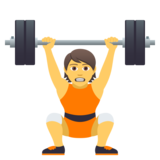 Person Lifting Weights on JoyPixels 5.0