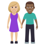 Woman and Man Holding Hands: Medium-Light Skin Tone, Medium-Dark Skin Tone on JoyPixels 5.0