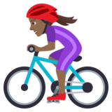 Woman Biking: Medium-Dark Skin Tone on JoyPixels 5.0