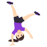 Woman Cartwheeling: Light Skin Tone on JoyPixels 5.0