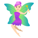 Woman Fairy: Light Skin Tone on JoyPixels 5.0