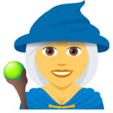 Woman Mage on JoyPixels 5.0