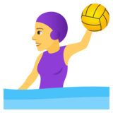 Woman Playing Water Polo on JoyPixels 5.0