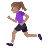 Woman Running: Medium Skin Tone on JoyPixels 5.0