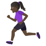 Woman Running: Dark Skin Tone on JoyPixels 5.0