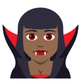 Woman Vampire: Medium-Dark Skin Tone on JoyPixels 5.0