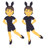 People With Bunny Ears on JoyPixels 5.0