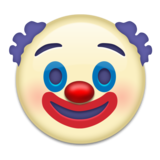 Clown Face on Emojipedia 5.2