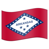 Flag for Arkansas (US-AR) on Emojipedia 5.2