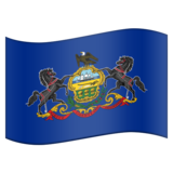 Flag for Pennsylvania (US-PA) on Emojipedia 5.2