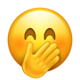 Face With Hand Over Mouth on Emojipedia 5.2