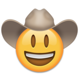 Cowboy Hat Face on Emojipedia 6.0