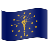Flag for Indiana (US-IN) on Emojipedia 6.0