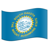 Flag for South Dakota (US-SD) on Emojipedia 6.0