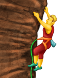 Man Climbing on Emojipedia 6.0