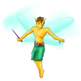 Man Fairy on Emojipedia 6.0
