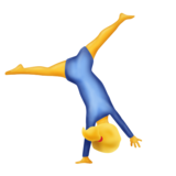 Person Cartwheeling on Emojipedia 6.0