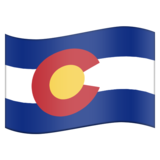 Flag for Colorado (US-CO) on Emojipedia 11.0