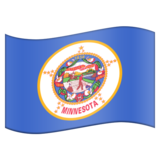 Flag for Minnesota (US-MN) on Emojipedia 11.0
