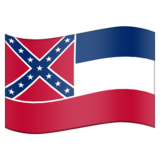 Flag for Mississippi (US-MS) on Emojipedia 11.0