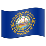 Flag for New Hampshire (US-NH) on Emojipedia 11.0