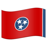 Flag for Tennessee (US-TN) on Emojipedia 11.0