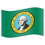 Flag for Washington (US-WA) on Emojipedia 11.0