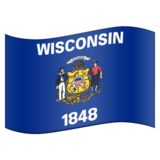 Flag for Wisconsin (US-WI) on Emojipedia 11.0