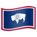 Flag for Wyoming (US-WY) on Emojipedia 11.0