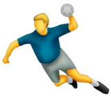 Person Playing Handball on Emojipedia 11.0