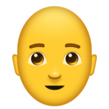 Man: Bald on Emojipedia 11.0