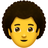 Man: Curly Hair on Emojipedia 11.0