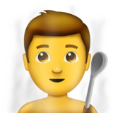Man in Steamy Room on Emojipedia 11.0