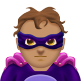 Man Supervillain: Medium Skin Tone on Emojipedia 11.0