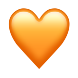 Orange Heart on Emojipedia 11.0