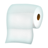Simple Toilet Paper Emoji Concept