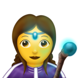 Woman Mage on Emojipedia 11.0