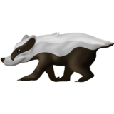 Badger on Emojipedia 11.1