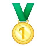 1st Place Medal on Emojipedia 11.1