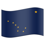 Flag for Alaska (US-AK) on Emojipedia 11.1