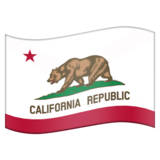 Flag for California (US-CA) on Emojipedia 11.1