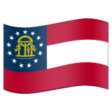 Flag for Georgia (US-GA) on Emojipedia 11.1