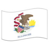 Flag for Illinois (US-IL) on Emojipedia 11.1
