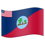Flag for Montserrado (LR-MO) on Emojipedia 11.1