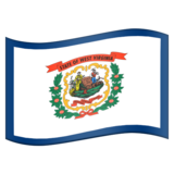 Flag for West Virginia (US-WV) on Emojipedia 11.1