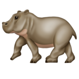 Hippopotamus on Emojipedia 11.1